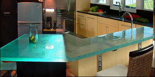 IKLO glass countertop