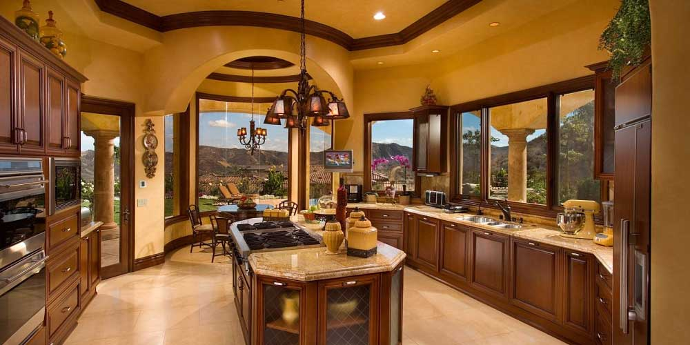 interior affordable custom home tuscan