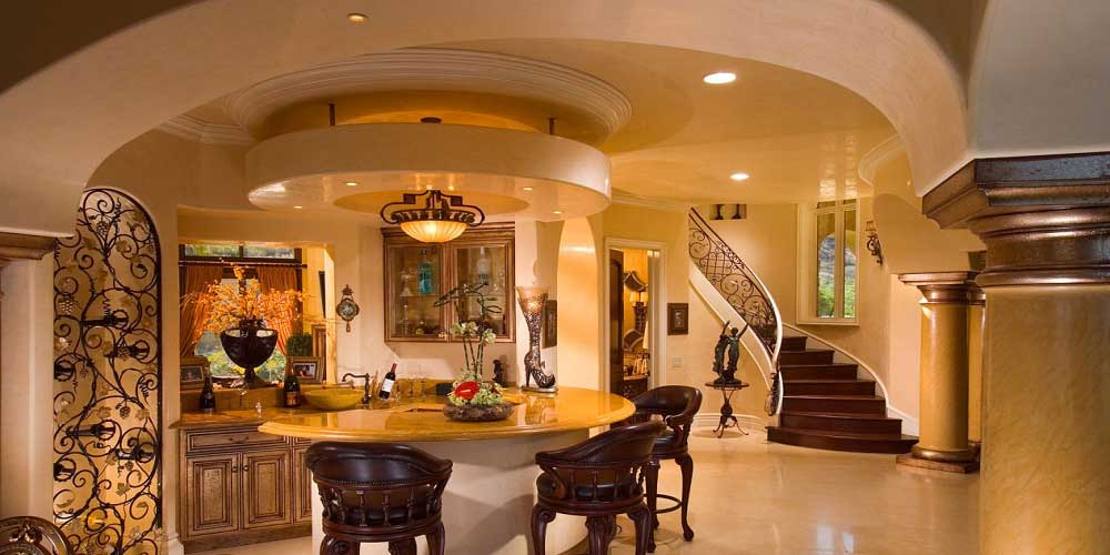 Interior Mediterranean Custom Home Houston