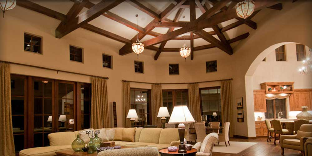 interior tuscan custom home houston