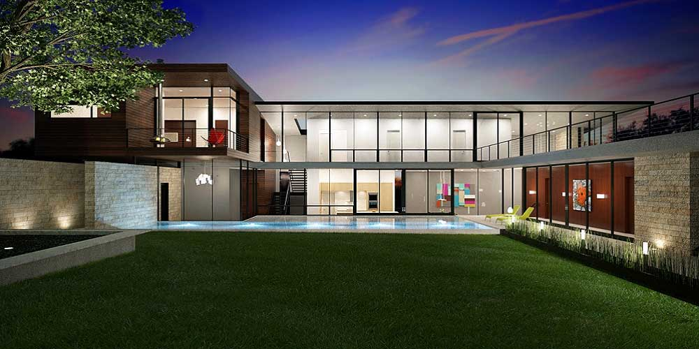 Modern contemporary custom home builders in houston for Contemporary home builders houston