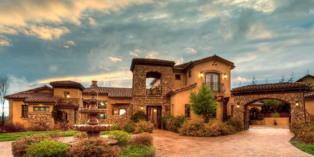 Tuscan custom home builder in houston iklo homes for Luxury tuscan homes