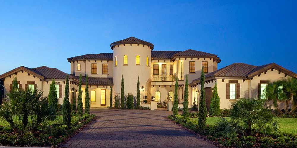 Low Cost Luxury Homes Spanish Mediterranean Custom Home Builders Houston